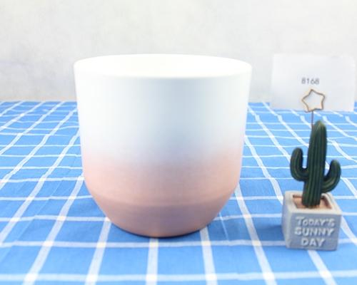 渐变釉陶瓷花盆