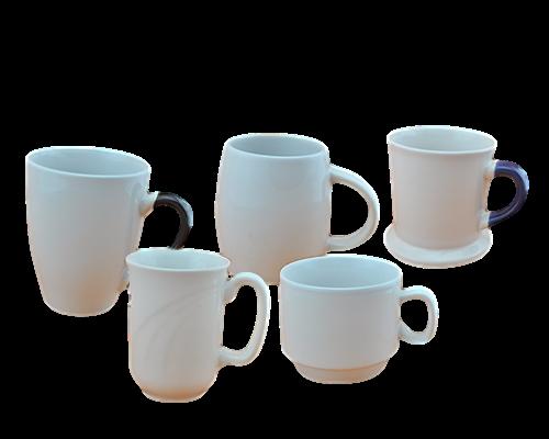 白瓷陶瓷杯